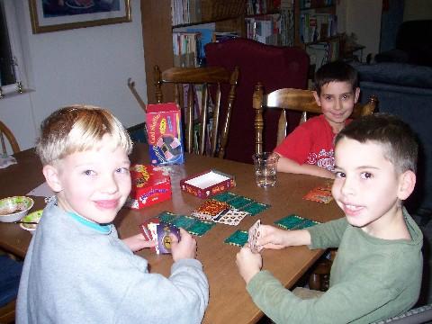 Card Playing Boys