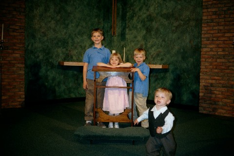 Kiddos at our 10th anniversary/renewal