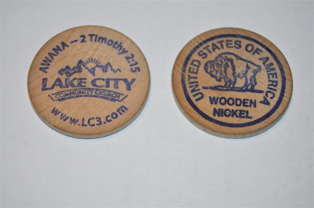 Don't take any wooden nickels ... unless they are like this one!