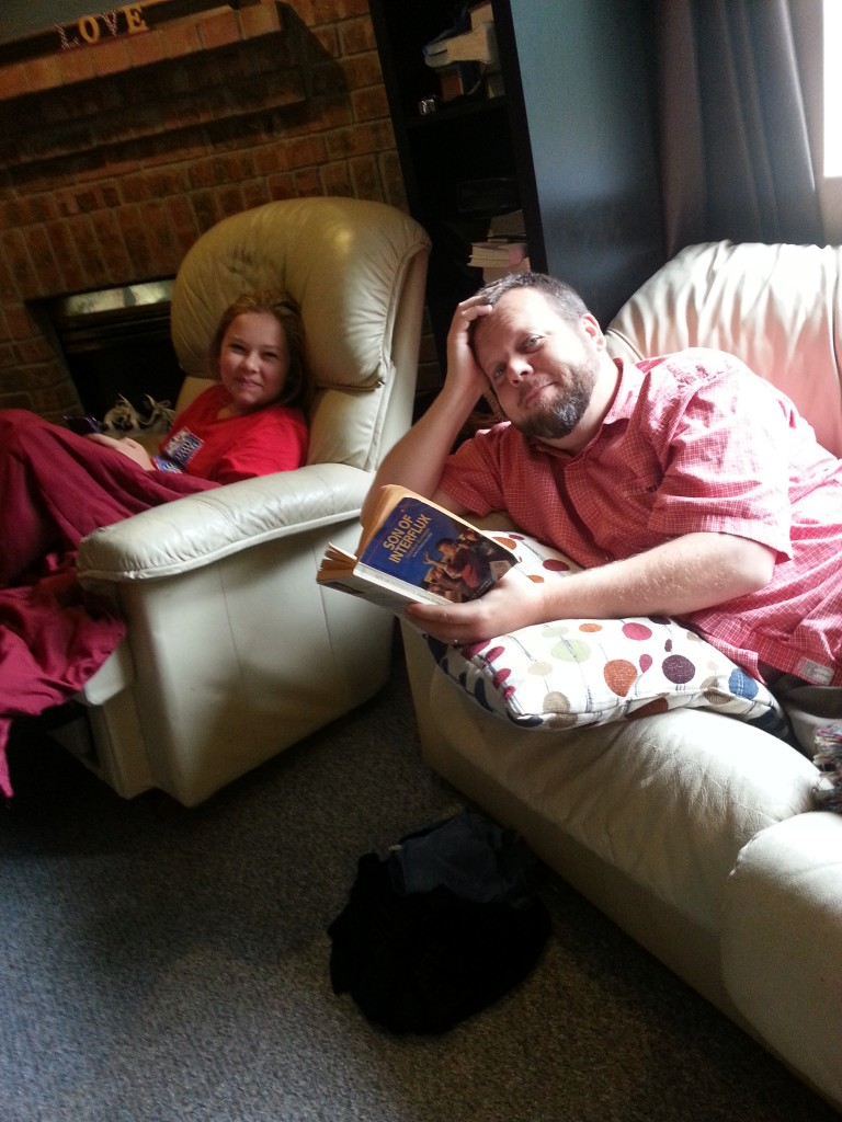 Snuggle, reading time!
