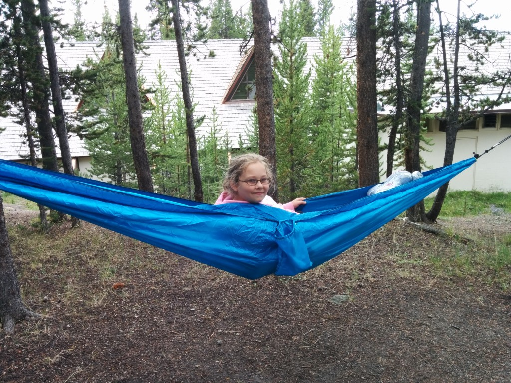 We camped at Canyon Village, in the center of the park.  Joshua's hammock was well-favored.