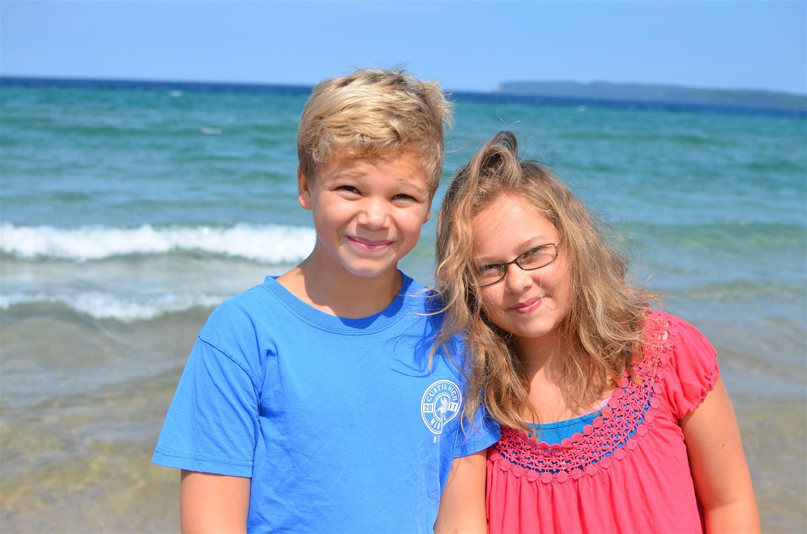 David and Sarah - the last of my homeschooling kiddos!