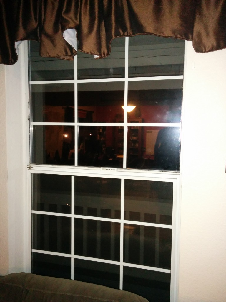 Seven new windows on the ground floor of our home make it much less drafty and cold.