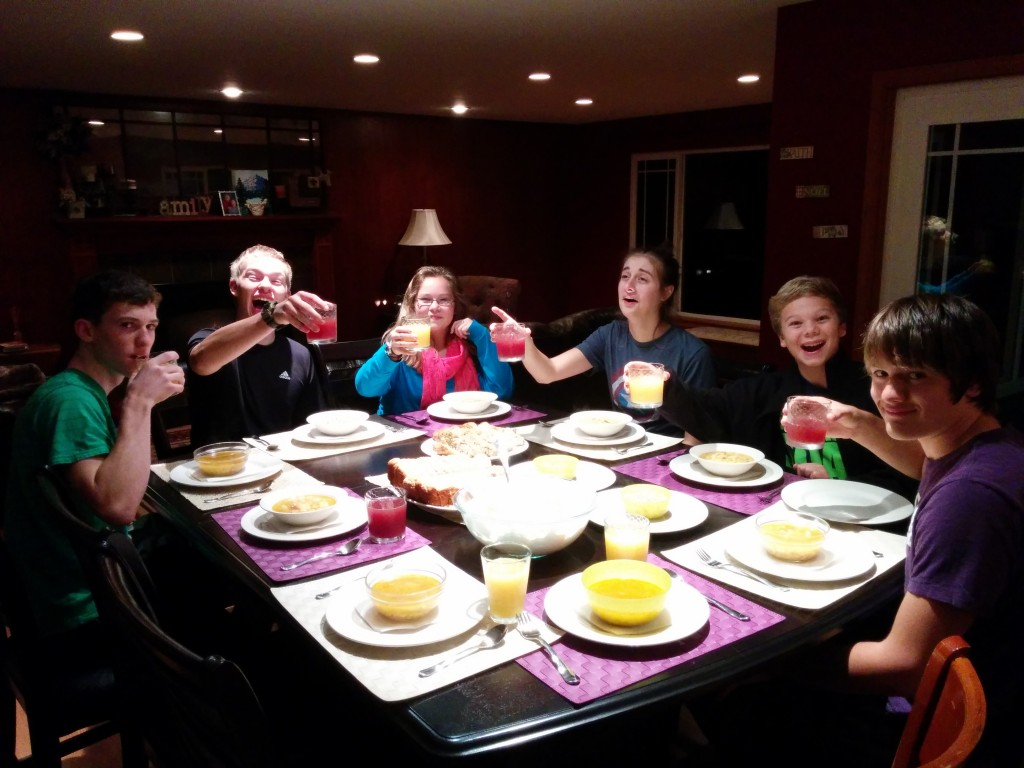 A recent 'Redwall Feast' for David and Sarah's English class through Potter's School.  Thank you, God, for homeschooling friends to encourage us, and for a State in which we are allowed to homeschool our children!