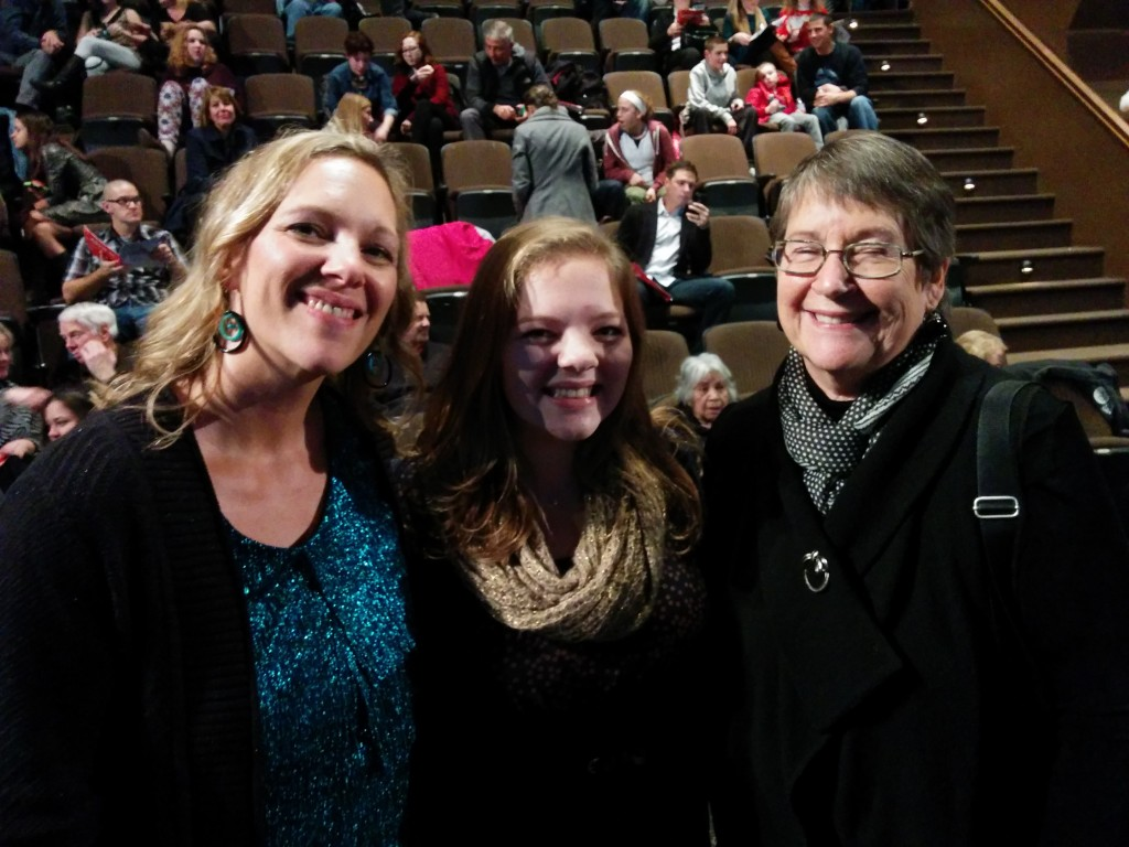 Some of my favorite girls, at the Scrooge play.