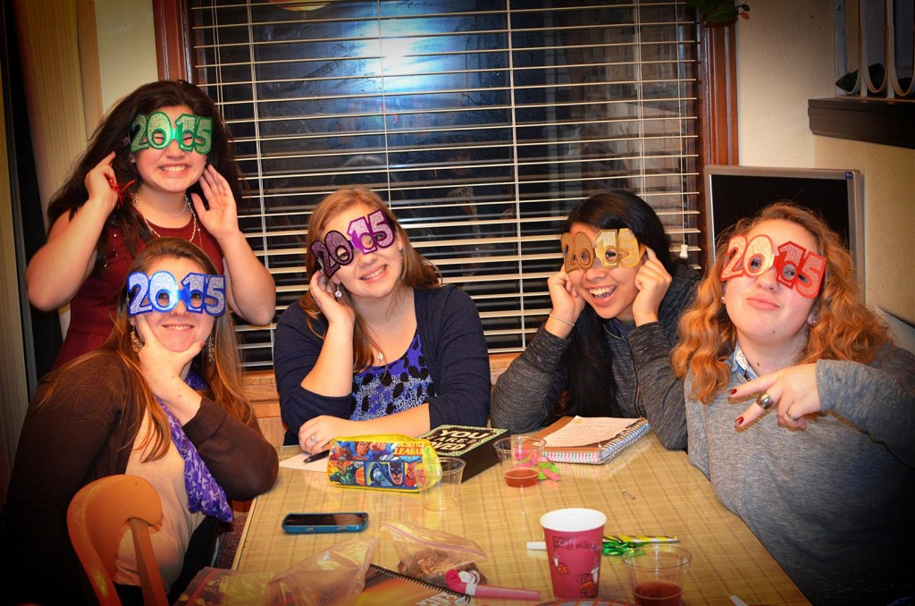Tarah, Leah, Rachel, Katie and Hannah helped us celebrate the new year!