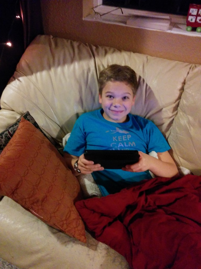 David plays games on his Kindle Fire while listening.   I think there should be a quiz, to make sure he is listening.