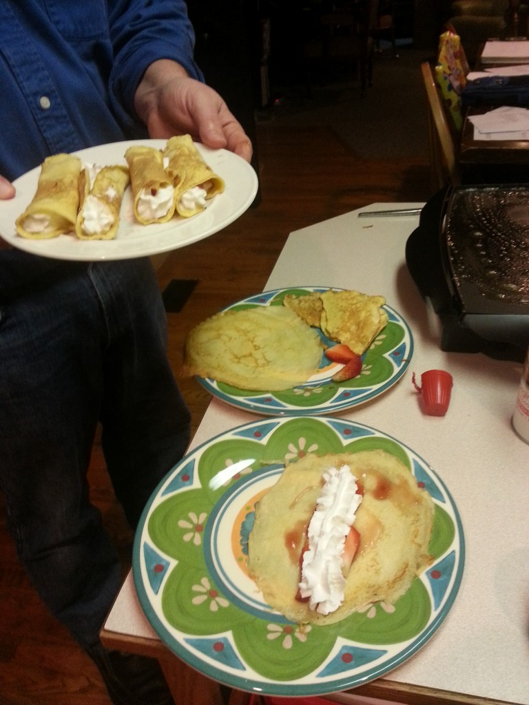 There was nothing creepy about these crêpes ...