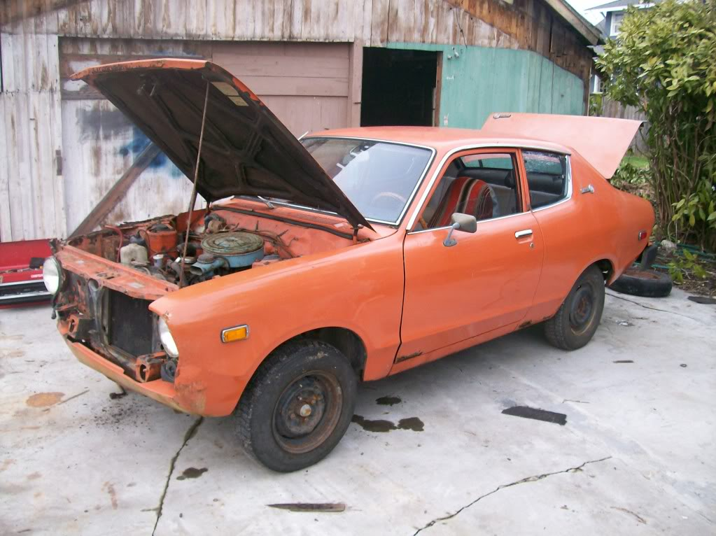 Not my actual Datsun -- mine was MUCH more rusty.