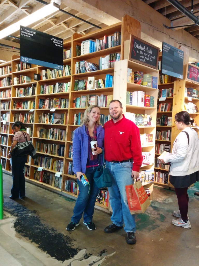 Kathy and I managed a visit to Powell's Book store, so the weekend was at least partially redeemed, whatever surprises my brother has for us.