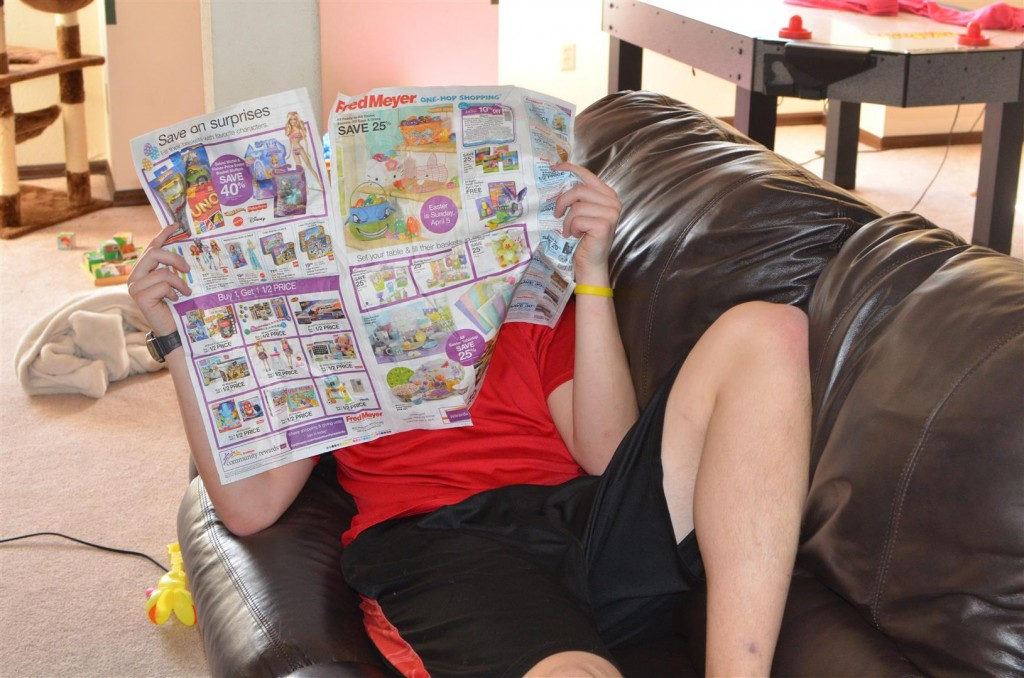 Daniel found some reading material.