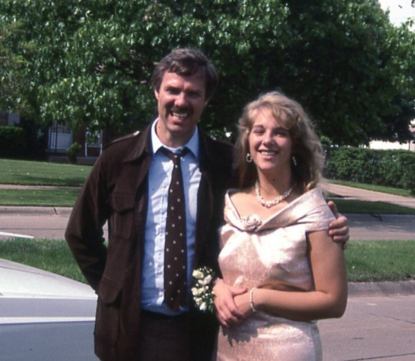 High School Prom - quick picture with Dad