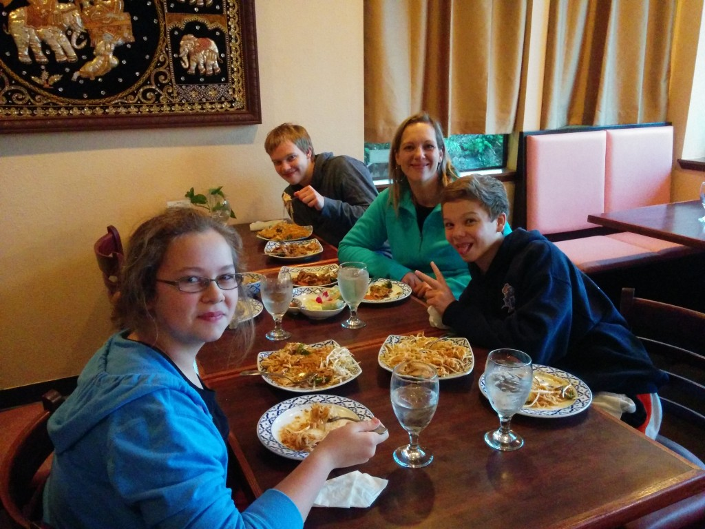 It is always fun to celebrate the blessings that God brings into our lives, especially at Chili Thai.