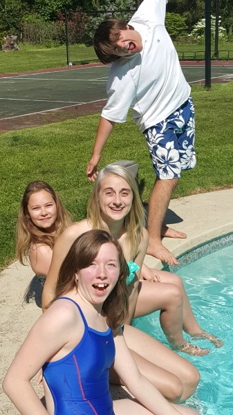 Pool time with friends!