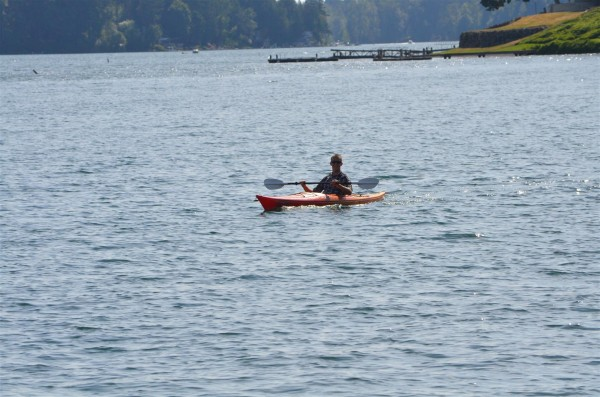 Kayaking on American Lake