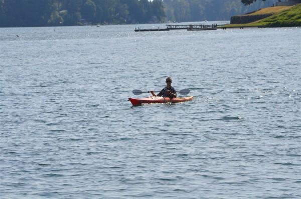 Kayaking on American Lake