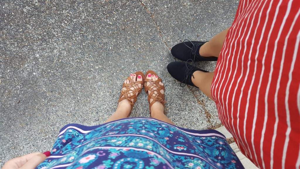 Our outfits may clash, but we don't. ;)