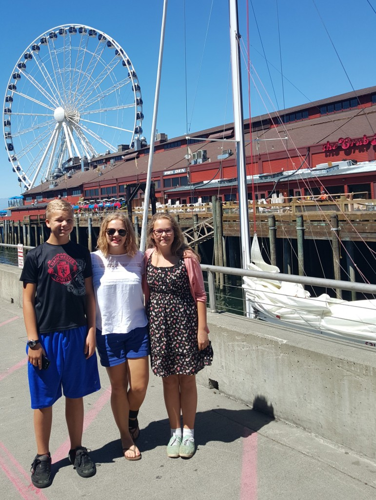 The waterfront welcomes us to downtown Seattle!