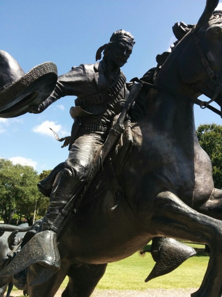 I must admit, after seeing this sculpture, I wanted to be a cowboy.