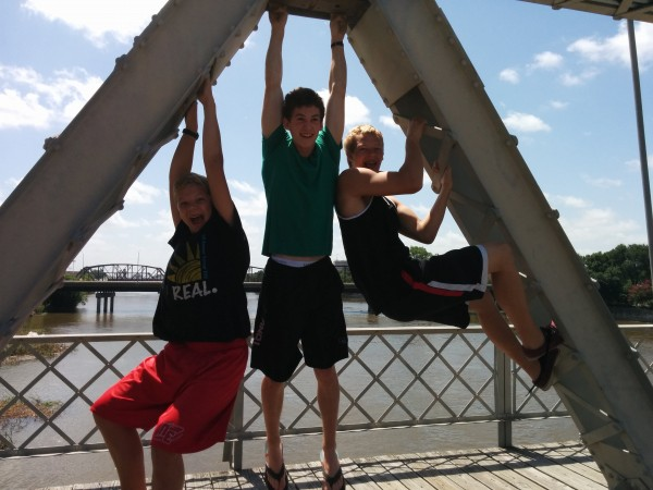 These goofballs really took the whole 'suspension' part of the bridge very literally.