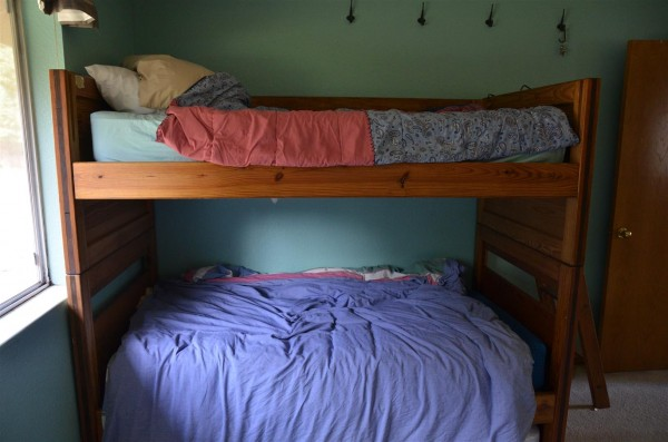 We've come full-circle to bunk-beds in the boys room, now that Sarah has appropriated Daniel's double bed.