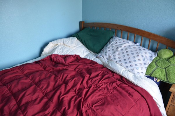 With David away, even the coveted front corner bedroom stands empty ...