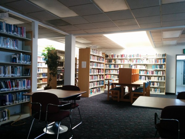 Looks like the library is one of the favored hang-out places on campus.