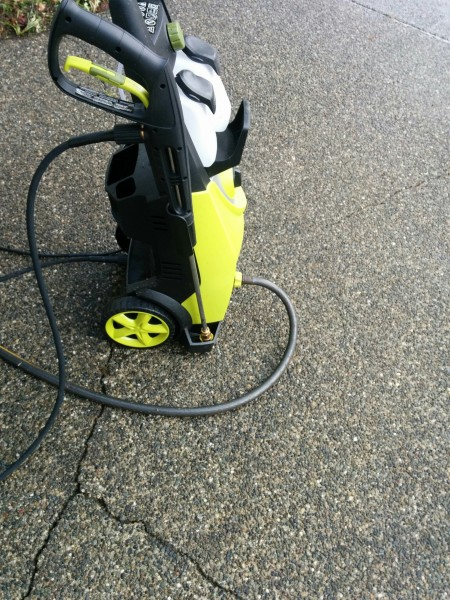 My actual pressure washer, rated at a respectable 2030 PSI.