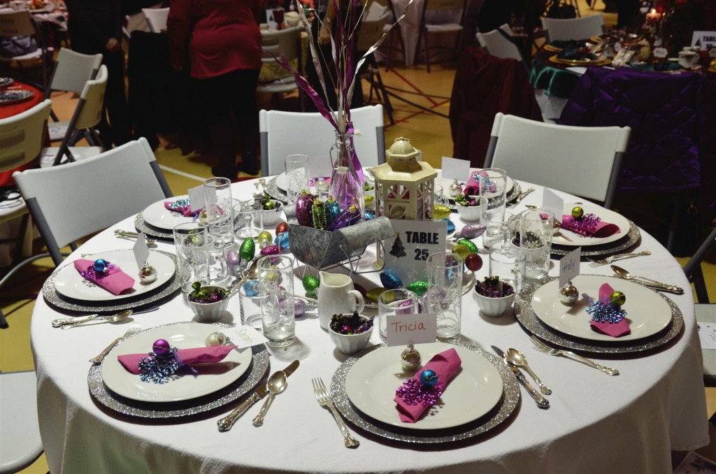 My colorful table this year - Tim was our private server!