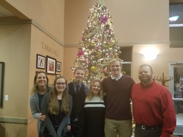 Tradition - Christmas Eve picture at church.