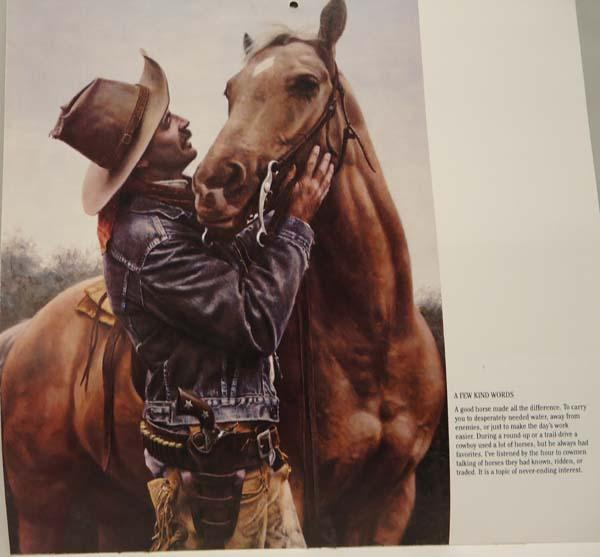 Nearly all Louis L'Amour books have a horse on the front cover.