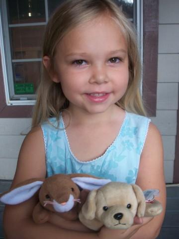 sarah holds the cuties