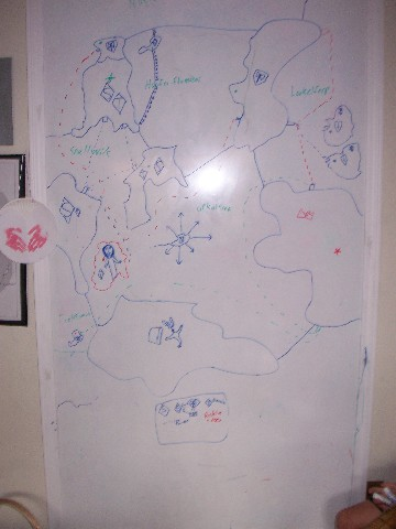 whiteboard map