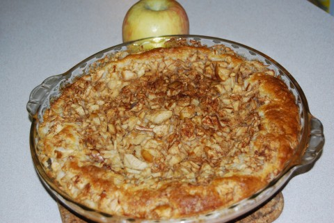 Whoops, was this apple supposed to be IN the pie?