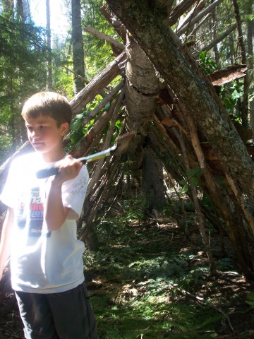 A boy and his hatchet ...