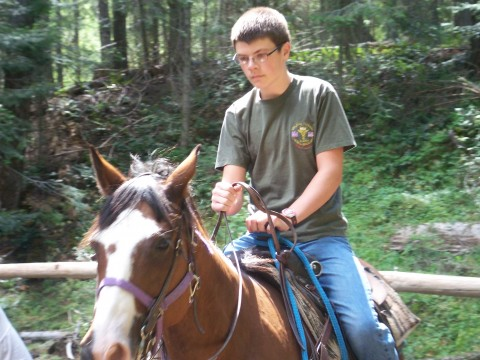 A man and his faithful steed