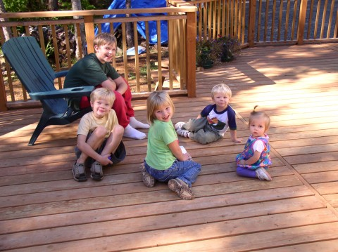 Five rascals on the deck