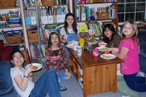 partying girls
