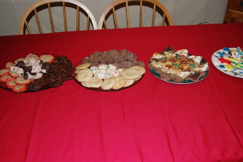 An assortment of cookies