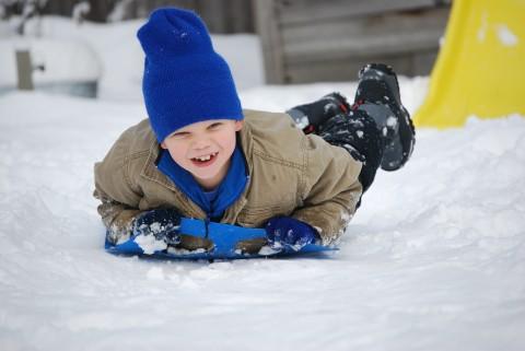 david hits the snow flying