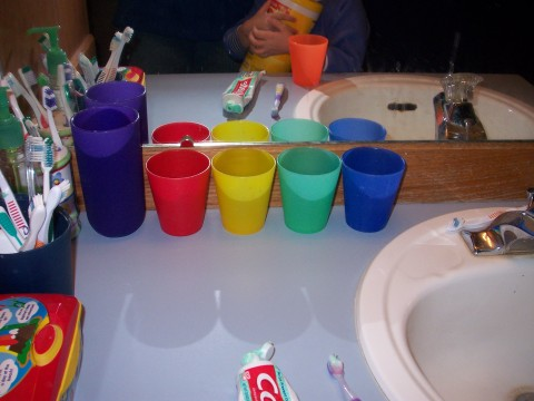 cups in line