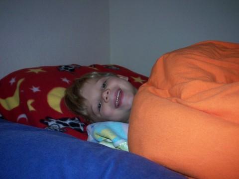 david in bed