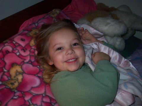 sarah in bed