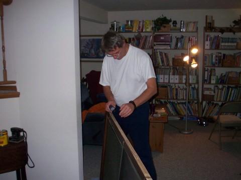 grandad and the door