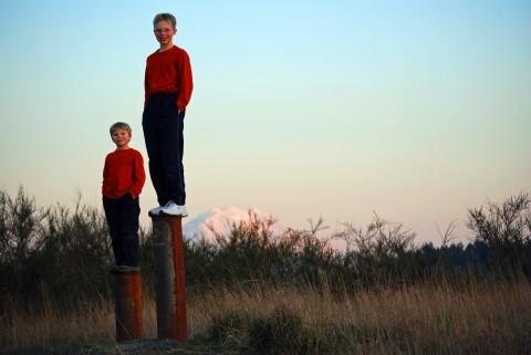 Boys on a pedestal