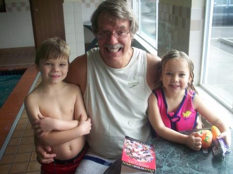 david, grandad and sarah