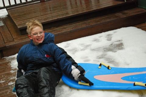 daniel's gonna sled