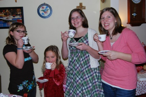 a girlie tea party