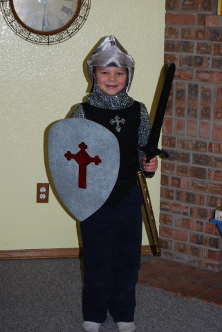 a knight in training