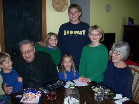 g'ma and g'pa and family